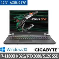 【GIGABYTE 技嘉】AORUS 17G YD 17.3吋電競筆電(i7-11800H/32G/512G SSD/RTX3080 8G/WIN10)