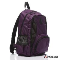 【KAWASAKI】超輕多功能平板電腦後背包(紫色)