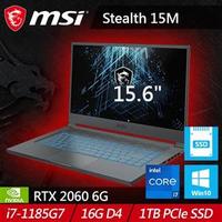 MSI微星 Stealth 15M A11SEK-219TW 15.6吋電競筆電 RTX2060 石墨灰