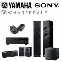 【YAMAHA & Wharfedale & SONY】7.1家庭劇院組(STR-DH790+NS-F150+NS-P150+NS-SW050+D300 3D)