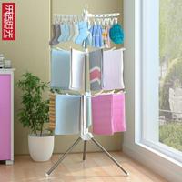 嬰兒晾衣架子落地摺疊不銹鋼兒童臥室掛衣架家用寶寶尿布架毛巾架·特惠促銷