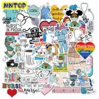 10/30/50ชิ้น/เซ็ต International พยาบาลวันการ์ตูน Graffiti สำหรับเด็ก DIY หมวกนิรภัยกระเป๋าเดินทางเฟอร์นิเจอร์แล...