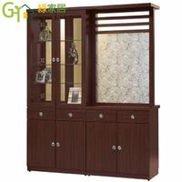 【綠家居】拉彼斯 時尚5.3尺木紋雙面屏風櫃/玄關櫃組合(二色可選)