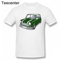 Crazy Mini Cooper汽車T恤Homme T恤男孩圖案男孩上衣T恤