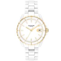【COACH】經典C字LOGO陶瓷腕錶-32mm/白(14503807)