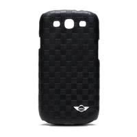 【福利品】Mini Cooper SAMSUNG Galaxy S3 i9300 原廠正品 菱格紋真皮背蓋/菱格紋/保護套/保護殼/真皮/正品