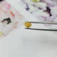 1PCS Solid 24Kสีเหลืองทองจี้3D Craft Mini Ruyiลูกปัดน้ำหนัก0.1-0.2กรัมขนาด7X5มม.แสตมป์: 999