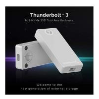 [2美國直購] Sabrent SSD鋁殼 EC-T3NS Thunderbolt 3 接頭 M.2 NVMe SSD Tool-Free Solid Aluminum Enclosure