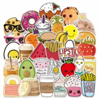 10/30/50PCS อาหารไอศกรีมการ์ตูน Graffiti ของเล่นเด็กหมวกกันน็อกตู้เย็นแล็ปท็อปกระเป๋าเดินทางกีตาร์สต...