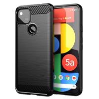 Google Pixel 5a 碳纖維雨絲紋防摔套殼(黑色)