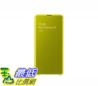 [8美國直購] 手機保護殼 Samsung Official Original Galaxy S10 Series Clear View S-View Flip Cover Case (Black, Galaxy S10e)