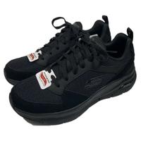 SKECHERS 男鞋 ARCH FIT 運動鞋 健走鞋 工作鞋 足底筋膜炎舒緩 232101BBK麂皮全黑(C3)【陽光樂活】