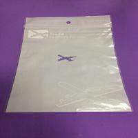 PS Mall【J1967】 PE夾鏈收納袋 29.7*20.8公分 一面白色珍珠模 一面透明