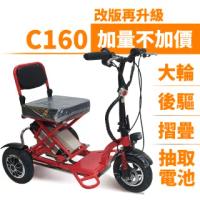 【Suniwin】尚耘國際折疊三輪電動車c160(迷你電動車/ 老年代步車/ 出遊代步車)