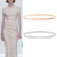 ผู้หญิงทองเงินเข็มขัดสำหรับชุด Elegant Elastic เอวหญิงเข็มขัดนี้สุภาพสตรีเข็มขัดเข็มขัด