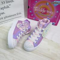 Skechers SLIGHTS-TWILITES 2.0 中童鞋 314435LLVMT 粉x紫 蝴蝶【iSport】