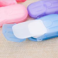 PS Mall【J827】旅行一次性香皂片盒裝香皂紙