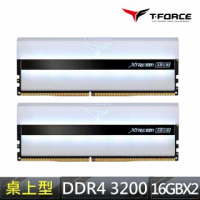 【Team 十銓】T-FORCE XTREEM ARGB WHITE DDR4-3200 32GBˍ16Gx2 CL16 桌上型超頻記憶體