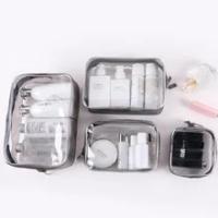 กระเป๋าเครื่องสำอาง PVC โปร่งใสกระเป๋าเก็บกระเป๋าเดินทาง Skin Care ล้างห้องน้ำกระเป๋าสะดวกล้างแต...
