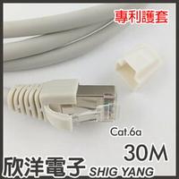※ 欣洋電子 ※ Twinnet Cat.6a雙遮蔽SFTP極速網路線 30M / 30米 附測試報告(含頭) 台灣製造(02-01-530)