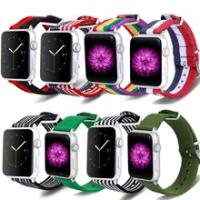 Braided Solo Loop สำหรับ Apple Watch Band 38มม.40มม.42มม.44มม.ปรับเข็มขัดไนล่อนยืดหยุ่นสร้อยข้อมือ IWatch Series 1 2 3 4 5สาย