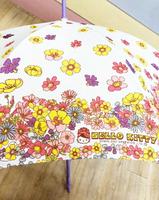 【震撼精品百貨】Hello Kitty 凱蒂貓~HELLO KITTY直傘-紫花-55CM#69521