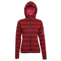 英德鞋坊~義大利第一品牌-LOTTO樂得 女款保暖升溫刷毛連帽外套 保暖2級 [1241] 紅398元
