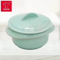 【居家防疫↘MULTEE 摩堤】10cm迷你陶瓷鍋 / 台灣鶯歌製品(淺綠松)