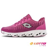 【LOTTO】女 SONIC 風動跑鞋(桃紫-LT1AWR3097)