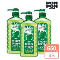 【澎澎MAN】速爽2in1 洗髮沐浴露-控油酷涼型-650gx3(團購優惠組)