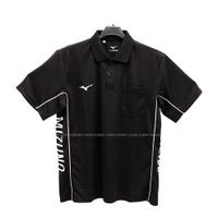 (B4) MIZUNO 美津濃 男 POLO衫 短袖上衣 高爾夫球衣 胸前有口袋 32TA001909 黑【陽光樂活】