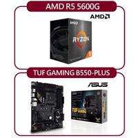 【ASUS 華碩】AMD R5 5600G + 華碩 TUF GAMING B550-PLUS(自組DIY兩件組R56)