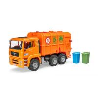 【BRUDER】1:16 橘垃圾車(小汽車)