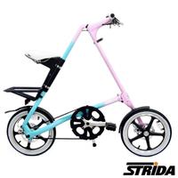 【英國 STRiDA速立達】16吋單速LT版碟剎折疊單車/三角形單車-漸層色