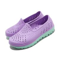 【SKECHERS】休閒鞋 H2go-Waterlillys 水鞋 女鞋 洞洞鞋 雨天必備 快速排水 中大童 紫 綠(86622LLVMT)