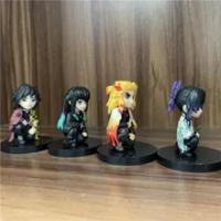 คนรัก Demon Slayer Tomioka Giyuu Kochou Shinobu Tokitou Muichirou Rengoku Kyoujurou Ver น่ารัก PVC Action Figure 6ซม.4Pcs