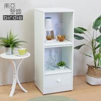 【南亞塑鋼】1.5尺一抽二拉盤塑鋼電器櫃/收納餐櫃(白色)
