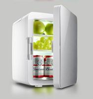 新款10L鋼化玻璃門車載冰箱車家兩用冷藏保鮮學生宿舍迷你小冰箱歐MKS歐歐流行館