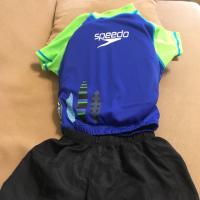 美國帶回 Speedo 兩件式漂浮泳衣泳褲 (兒童浮力衣)M/L 2-4歲, 防曬係數50+