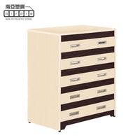 【南亞塑鋼】洛娜3尺塑鋼五斗櫃/五抽屜收納櫃/置物櫃(白橡色+胡桃色)