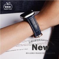 【蘋果庫Apple Cool】Apple Watch S6/SE/5/4 42/44mm鱷魚紋真皮帶(真小牛皮錶帶 Apple Watch錶帶)