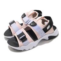 【NIKE 耐吉】涼鞋 Canyon Sandal 穿搭 女鞋 舒適 簡約 夏日 輕便 魔鬼氈 球鞋 粉 白(CV5515-600)