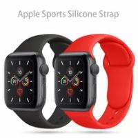 สายซิลิโคนสำหรับ Apple Watch Band 44มม.40มม.38มม.42มม.เข็มขัด Smartwatch Watchband สร้อยข้อมือ IWatch series Se 6 5 4 3สาย
