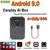 Carplay Ai กล่อง Android Box รุ่น Android 9.0รถวิทยุเครื่องเล่นมัลติมีเดียไร้สาย Mirrorlink สำหรับ Apple Carplay Auto Tv กล่อง