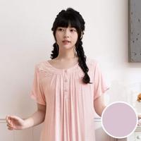 【Wacoal 華歌爾】睡衣-睡眠研究所-玫瑰纖維 M-L短袖裙裝 LWB08011PP(紫)