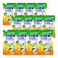 【妙管家-買6送6】植萃酵素洗碗精補充包1000g(6入/箱)