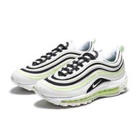 【NIKE 耐吉】W AIR MAX 97 白綠黑 螢光綠 女款 休閒鞋 運動鞋 增高 氣墊(921733-105)