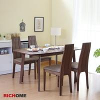 餐桌椅組 餐桌 餐椅 餐廳 RICHOME TA405+CH1074 雅蜜拉餐桌椅組(一桌四椅)-2色