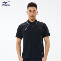 抗紫外線 男款短袖POLO衫 32TA101509(黑)【美津濃MIZUNO】