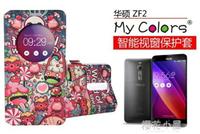 華碩zenfone2手機殼 ZF2翻蓋皮套 5.5寸保護套ZE551ML視窗卡通套『櫻花小屋』